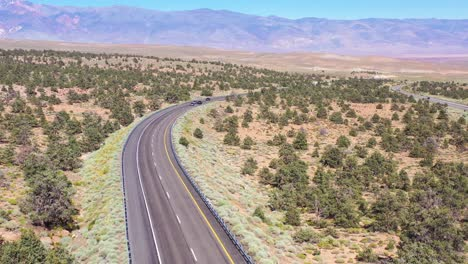 Aerial-over-highway-395-to-reveal-the-Owens-Valley-and-the-Eastern-Sierra-Nevada-mountains-of-California