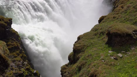 Tilt-up-to-the-massive-Gulfoss-waterfall-flowing-in-Iceland