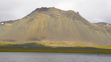 Beautiful-time-lapse-cloud-shadows-on-volcanic-mountain-in-Iceland