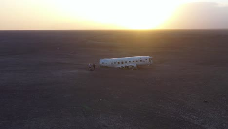 Aerial-over-a-crashed-US-Navy-DC-3-on-the-black-sands-of-Solheimasandur-Iceland-3