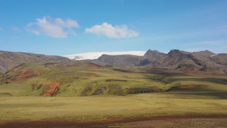 Beautiful-aerial-over-typical-Iceland-landscape-near-Vik-includes-volcanic-and-glacier-landscapes