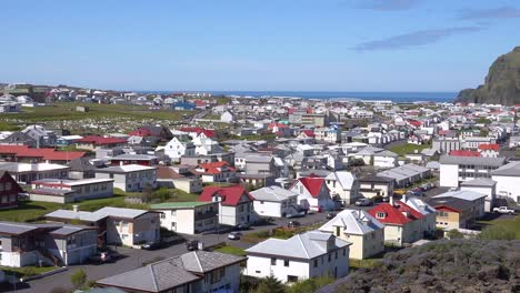 Establishing-shot-of-the-town-of-Heimaey-in-the-Westman-Islands-Vestmannaeyjar-Iceland-2