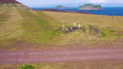 Aerial-over-graves-of-ancestors-ancestral-Iceland-history-on-the-Westman-Islands-Vestmannaeyjar