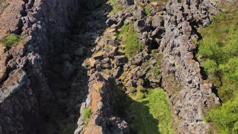 Incline-La-Antena-Sobre-La-Placa-Tectónica-De-La-Cordillera-Del-Atlántico-Medio-En-Thingvellir-Islandia