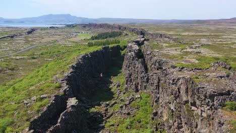 Beautiful-aerial-over-the-mid-Atlantic-Ridge-at-Thingvellir-Iceland-1