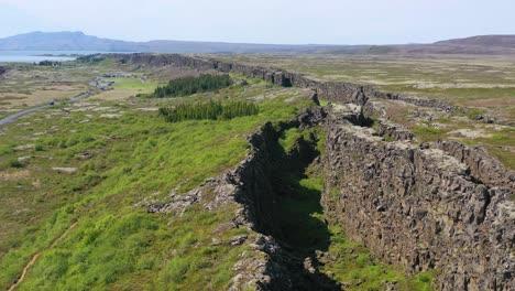 Beautiful-aerial-over-the-mid-Atlantic-Ridge-at-Thingvellir-Iceland-2