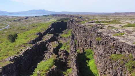 Beautiful-aerial-over-the-mid-Atlantic-Ridge-at-Thingvellir-Iceland-4