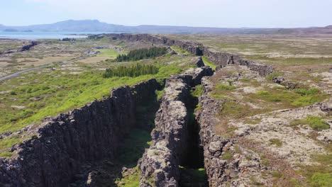 Beautiful-aerial-over-the-mid-Atlantic-Ridge-at-Thingvellir-Iceland-5