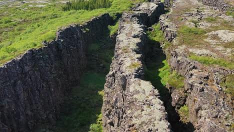 Beautiful-aerial-over-the-mid-Atlantic-Ridge-at-Thingvellir-Iceland-8