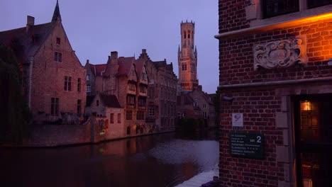 Beautiful-canal-and-the-Belfort-Van-Brugge-Bruges-belfry-bell-tower-in-Belgium-night-1