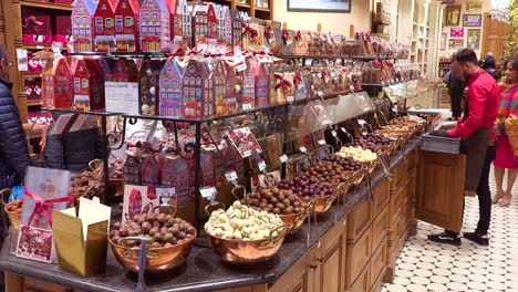 Belgian-chocolate-and-candy-on-display-in-a-chocolate-sex-shop-in-Bruges-Belgium