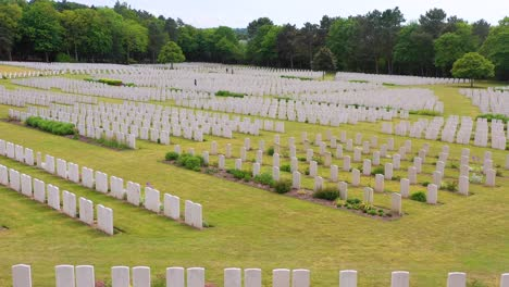 Aerial-over-headstones-of-the-Etaples-France-World-War-cemetery-military-graveyard-and-headstones-of-soldiers-1