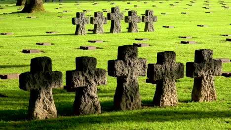 Graves-and-crosses-at-La-Cambe-Nazi-German-World-War-Two-cemetery-memorial-near-Omaha-Beach-Normandy-France-5