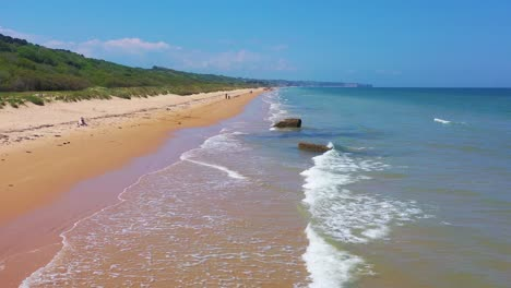 Good-vista-aérea-over-Omaha-Beach-Normandy-France-site-of-World-War-two-D-Day-allied-invasion