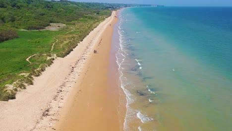 Gute-Antenne-über-Omaha-Beach-Normandie-Frankreich-Standort-Des-Zweiten-Weltkriegs-D-day-Alliierte-Invasion-1