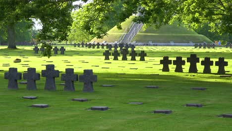 Graves-and-crosses-at-La-Cambe-Nazi-German-World-War-Two-cemetery-memorial-near-Omaha-Beach-Normandy-France-6