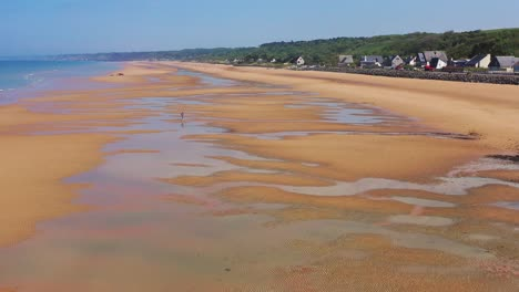 Gute-Antenne-über-Omaha-Beach-Normandie-Frankreich-Standort-Des-Zweiten-Weltkriegs-D-day-Alliierte-Invasion-5