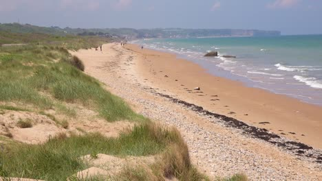 Establishing-of-Omaha-Beach-Normandy-France-site-of-World-War-two-D-Day-allied-invasion