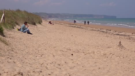 Establishing-of-Omaha-Beach-Normandy-France-site-of-World-War-two-D-Day-allied-invasion-3