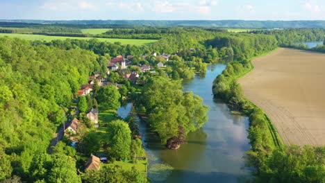 Very-good-aerial-high-over-the-Seine-River-Valley-near-Les-Andelys-France-3