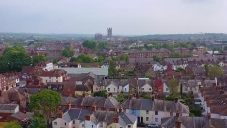Nice-aerial-over-the-city-of-Canterbury-and-cathedral-Kent-United-Kingdom-England-1