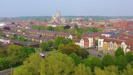Nice-aerial-over-the-city-of-Canterbury-and-cathedral-Kent-United-Kingdom-England-3