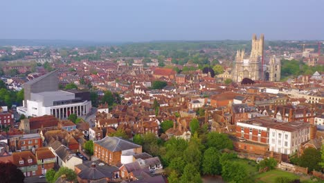 Nice-aerial-over-the-city-of-Canterbury-and-cathedral-Kent-United-Kingdom-England-6
