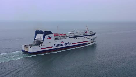 Aerial-over-a-Brittany-Ferry-boat-sailing-across-the-English-Channel-from-England-to-France-4