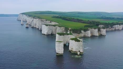 Hermosa-Antena-Sobre-Los-Acantilados-Blancos-De-Dover-Cerca-De-Old-Harris-Rocks-En-La-Costa-Sur-De-Inglaterra-6