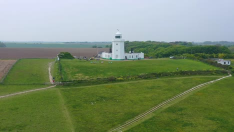 Aerial-of-the-South-Foreland-Lighthouse-and-the-Cliffs-Of-Dover-overlooking-the-English-Channel-4