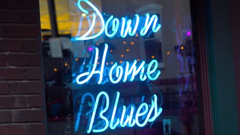 A-neon-sign-on-Beale-Street-Memphis-reads-Down-Home-Blues-music
