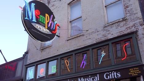 Neon-sign-on-Beale-Street-Memphis-Tennessee-identifies-landmark-Memphis-Music