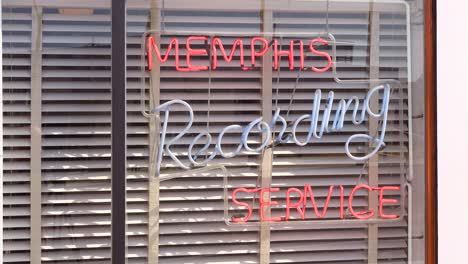 Neon-sign-reads-Memphis-Recording-Service-at-Sun-Studios-where-Sam-Phillips-introduced-Elvis-to-the-world-Memphis-Tennessee
