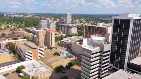 Good-aerial-establishing-shot-of-buildings-in-the-downtown-business-district-of-Jackson-Mississippi-with-state-capitol-distant-1