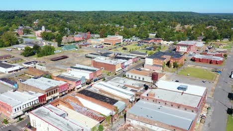 Aerial-around-the-town-of-West-Helena-Arkansas-small-poor-abandoned-rundown-and-poverty-stricken-1