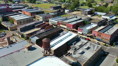 Aerial-around-the-town-of-West-Helena-Arkansas-small-poor-abandoned-rundown-and-poverty-stricken-3