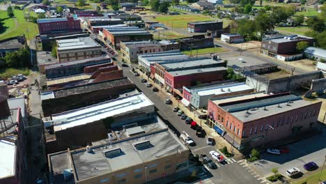 Aerial-around-the-town-of-West-Helena-Arkansas-small-poor-abandoned-rundown-and-poverty-stricken-4
