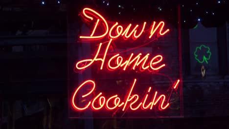 Neon-sign-on-Beale-Street-Memphis-identifies-Memphis-Down-Home-Cooking-restaurant