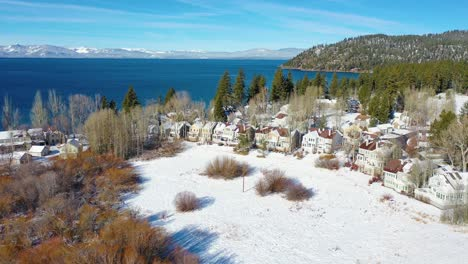 2020--winter-snow-aerial-over-Glenbrook-Nevada-community-ranch-houses-on-the-shores-of-Lake-Tahoe-Nevada-2