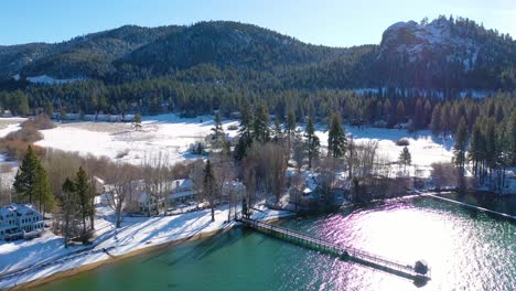 2020--winter-snow-aerial-over-Glenbrook-Nevada-community-ranch-houses-on-the-shores-of-Lake-Tahoe-Nevada-3