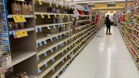 2020---supermarket-and-store-shelves-are-mostly-empty-during-the-Corona-virus-COVID-19-virus-outbreak-in-America-6
