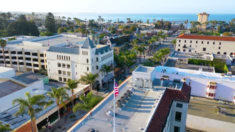 2020---aerial-of-the-streets-of-Ventura-California-empty-as-all-businesses-close-during-the-Coronavirus-Covid-19-epidemic-crisis-2