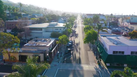 2020---aerial-of-the-streets-of-Ventura-California-empty-as-all-businesses-close-during-the-Coronavirus-Covid-19-epidemic-crisis-3