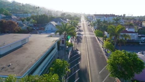 2020---aerial-of-the-streets-of-Ventura-California-empty-as-all-businesses-close-during-the-Coronavirus-Covid-19-epidemic-crisis-4