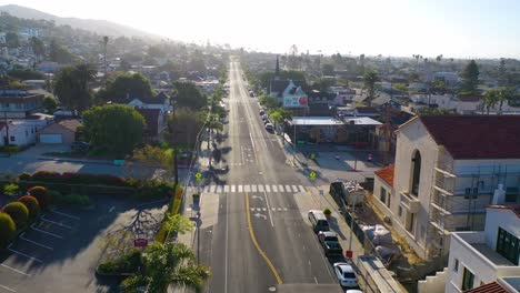 2020---aerial-of-the-streets-of-Ventura-California-mostly-empty-as-all-businesses-close-during-the-Coronavirus-Covid-19-epidemic-crisis-3