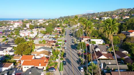 2020---aerial-of-the-streets-of-Southern-California-palms-mostly-empty-as-people-stay-home-during-the-Coronavirus-Covid-19-epidemic-crisis
