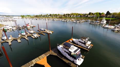 An-aerial-view-of-aport-harbor-or-marina-with-boats-docked