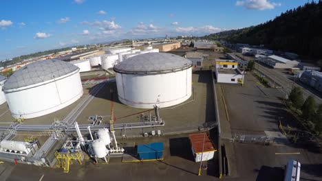 Aerial-over-oil-storage-tanks-illustrating-energy-need