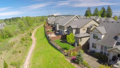 An-aerial-image-over-a-neighborhood-of-houses
