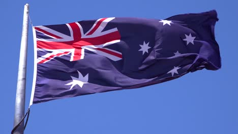 The-flag-of-Australia-fiies-in-the-wind